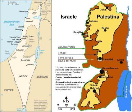 La situazione territoriale Isr.-Palest.
